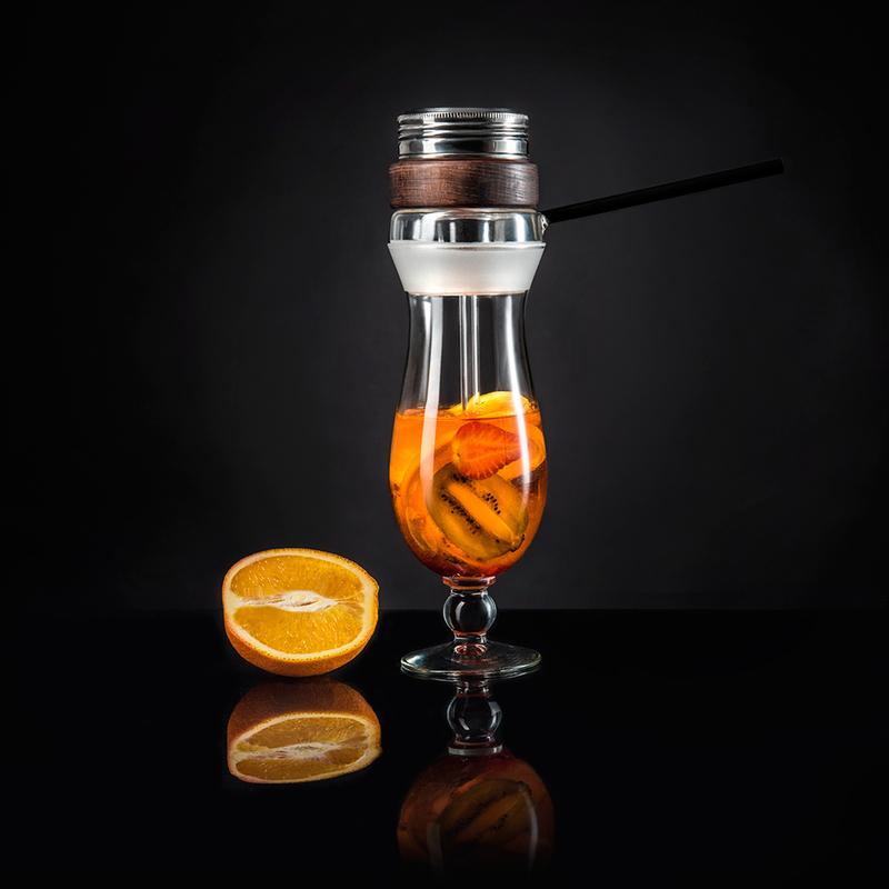 Кальян в стакане Hurricane Glass