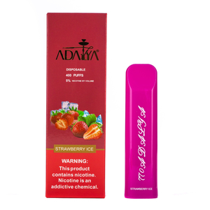 Одноразовая электронная сигарета Adalya Strawberry ice 5% 400 затяжек