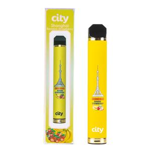 Одноразовая электронная сигарета City Shanghai Banana Strawberry (Шанхай Банан клубника) 1600 затяжек