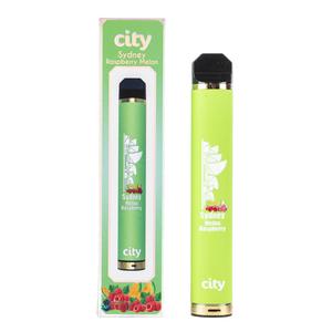 Одноразовая электронная сигарета City Sydney Raspberry Melon (Сидней Дыня малина) 1600 затяжек