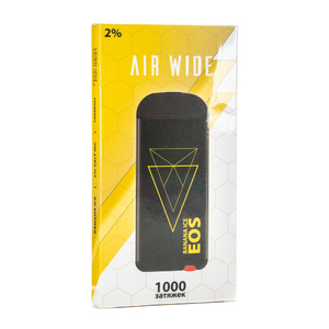 Одноразовая электронная сигарета EOS AIR WIDE Banana ICE (Банан Лед) 1000 затяжек