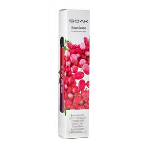 Одноразовая электронная сигарета SOAK X Rose Grape (Розовый виноград) 1500 затяжек