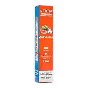 Одноразовая электронная сигарета Tik Tok Rosy Арбуз Лед 1000 затяжек