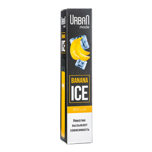 Одноразовая электронная сигарета Urban Mode Banana Ice 800 затяжек