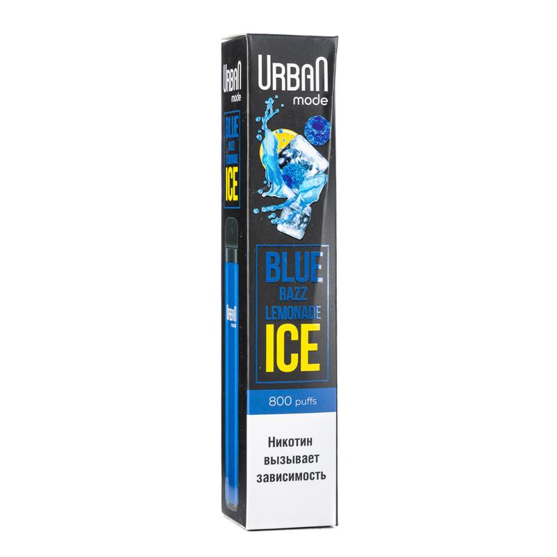 Одноразовая электронная сигарета Urban Mode Blue Razz Lemonade Ice 800 затяжек
