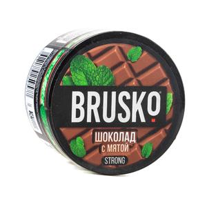 Кальянная смесь Brusko Strong Шоколад с мятой 50 г