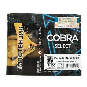 Табак Cobra SELECT Коктейльная Вишня (Maraschino Cherry) 40 г