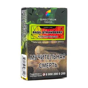 Табак Spectrum Hard Line Basil Strawberry (Базилик Клубника) 40 г