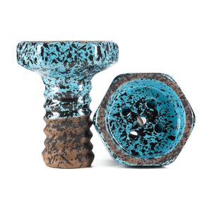 Чаша Telamon Evil Glaze голубой крап